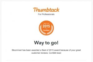 #1 Website Designer in San Diego Award 2015 by Thumbtack