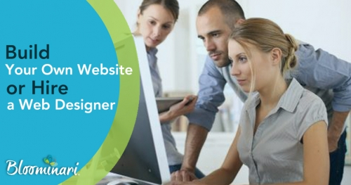 Should I build my own website or hire a professional web designer to help?