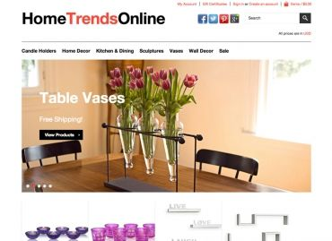 HomeTrendsOnline.com E-Commerce Online Store