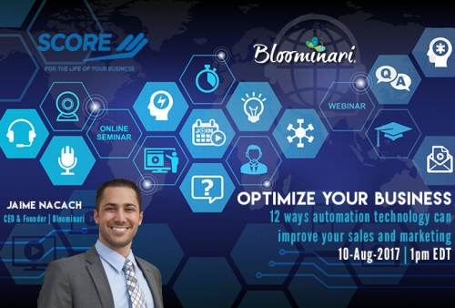 Bloominari and SCORE team up for an Exclusive Webinar on Business Automation